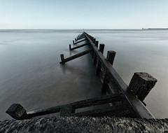 Vanishing point blend (P2284042) (Mel Stephens) Tags: uk longexposure sea panorama beach geotagged coast scotland seaside panoramic structure coastal aberdeen manmade gps groyne stitched hdr groynes ptgui 2011