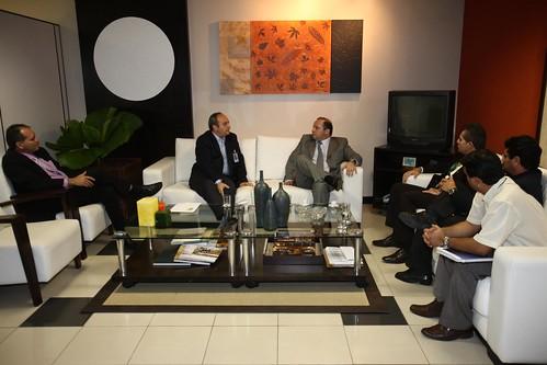 Vice-governador Helenilson Pontes em reunião com o nº 1 da Infraero/Regional Norte. Foto: Eunice Pinto.