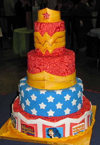 Wonder Woman Tiered Showcake