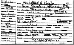 1915 Iowa Census Record - Michael Duffy