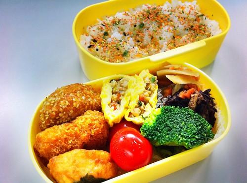 今日のお弁当 No. 121 – 鮭わかめ