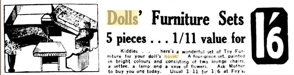 1934 dolls furniture set 2