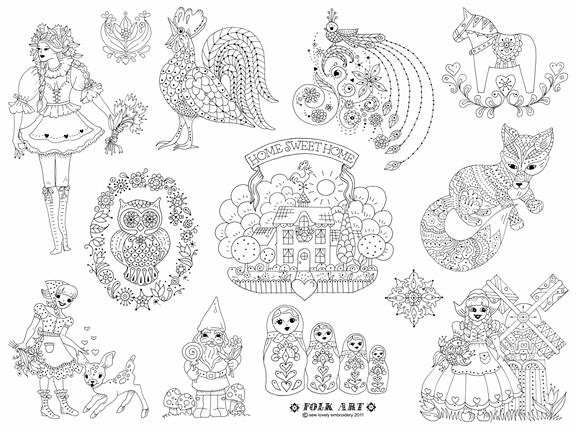 Folk Art Embroidery Pattern!