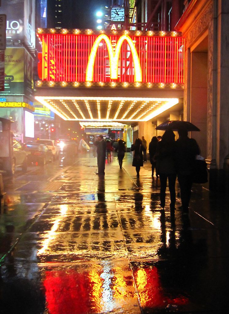 42nd Street in a rain storm