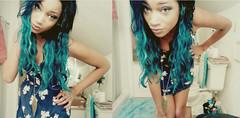 newdress (ashleyyfranklinnn) Tags: blue portrait selfportrait black girl dress abercrombie mermaid