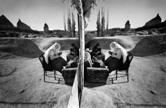 Turkey - Cappadocia (luca marella) Tags: travel people bw white black reflection film mirror blackwhite women voigtlander documentary social pb bn e bianco nero cultural cappadocia reportage analogic turchia womenfolk marellaluca