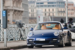 Porsche 997 Turbo Cabriolet MKII (Lambo8) Tags: blue 2 horse color colour switzerland photo hp nikon power suisse geneva d 911 8 s turbo ii porsche 200 mk2 28 af gt nikkor ge 80 phase genve rare f28 supercar mk ch bleue mkii cabriolet 80200mm 80200 997 80mm 200mm afd d80 worldcars