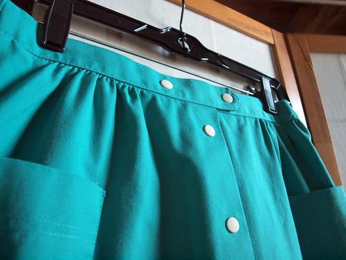 teal skirt close