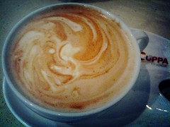 """Abstract Art"", Flat White, Cuppachoice"