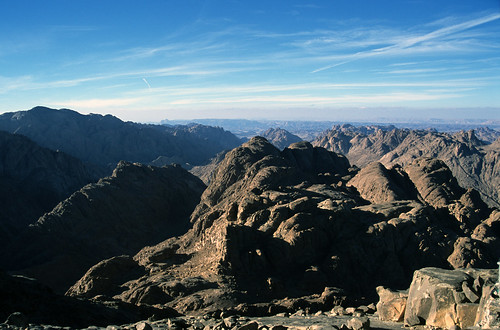 View from the Summit of Mt. Sinai, Egypt, 2001