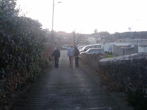 03/07/2011: Alex, Graham, and Xana walk uphill
