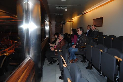 Trabajadores de AENA en la sede de la JG del Principado