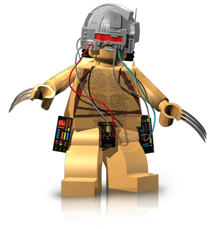 Custom minifig Weapon X custom lego minifigure