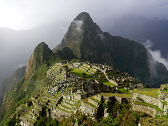 Historic Sanctuary of Machu Picchu (Eye of the Storym) Tags: mountains history abandoned peru monument nature fog inca mystery clouds landscape ancient ruins view stones stonework landmark cliffs historic worldheritagesite mysterious andes vista serene cloudforest machupicchu desolate deserted sanctuary breathtaking isolated vistapoint incan andesmountains ancientsite breathtakingview urubambavalley incanstonework