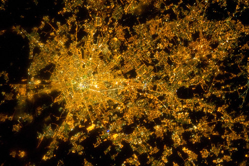 Milan, Italy at Night (NASA, International Space Station, 02/22/11)