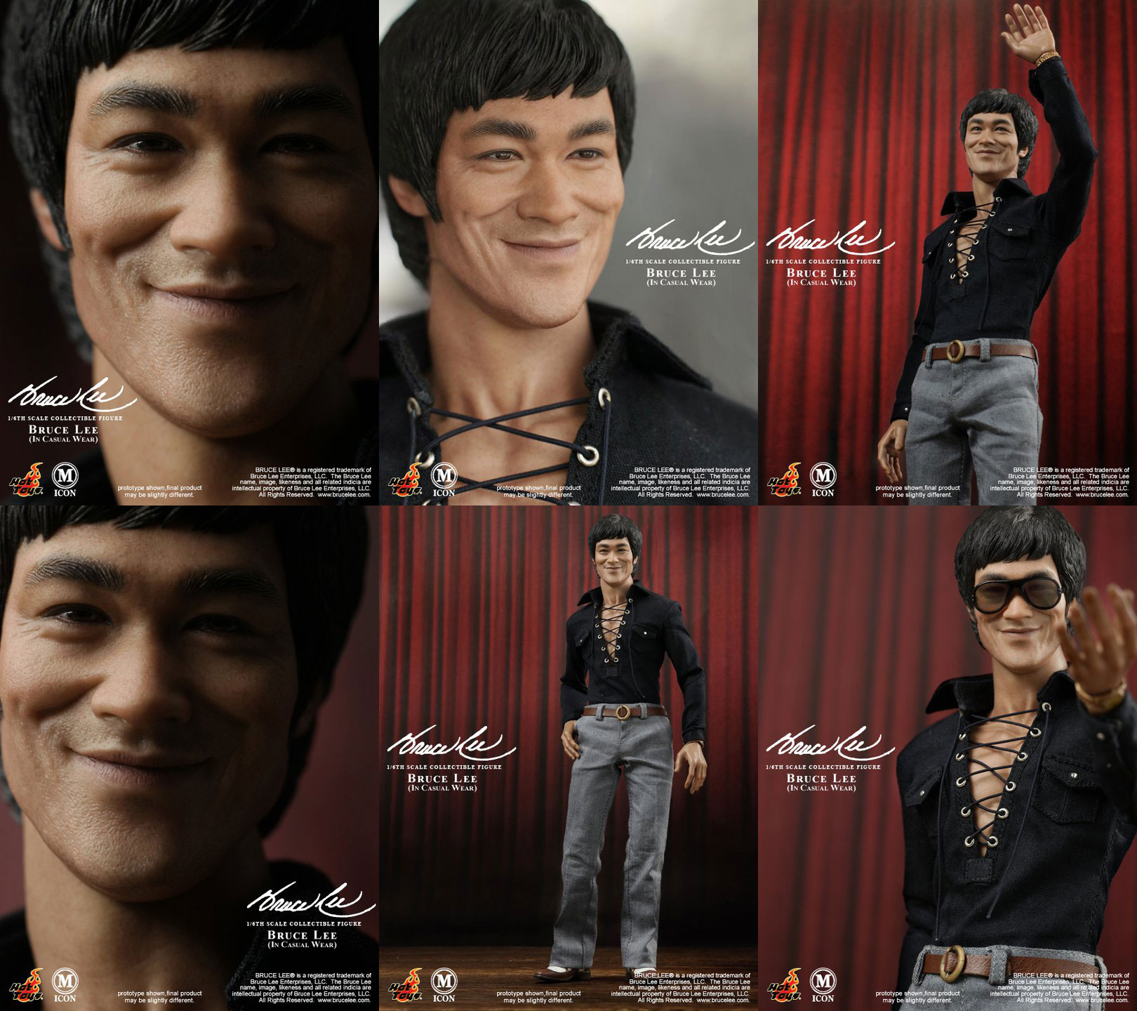 42d580e4de1 Bruce Lee in 1 6 by Hot Toys  Casual and Suit Looks