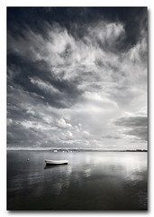 Barca (jose.singla) Tags: light shadow sky espaa seascape luz water canon landscape spain agua barca sigma sombra paisaje murcia cielo nubes reflexions 1020 lamanga marmenor cartagena 50d josesingla