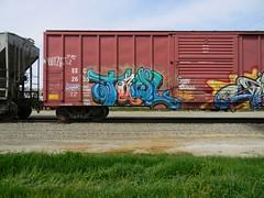 Tawl (KickPushPaint aka Sk8Hamburger) Tags: train painting graffiti paint tag cheeseburger boxcar piece tagging freight lords knistt gtl tawl gtlrs knistto