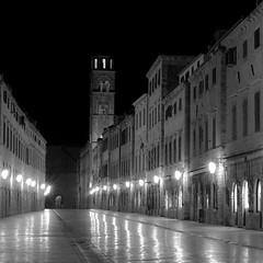 Late night Dubrovnik (Matt Scandrett) Tags: blackwhite croatia balkans dubrovnik nikond300 mattscandrett