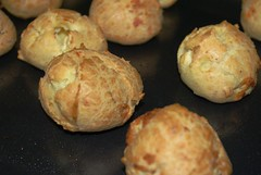 Gougeres fresh out of the oven