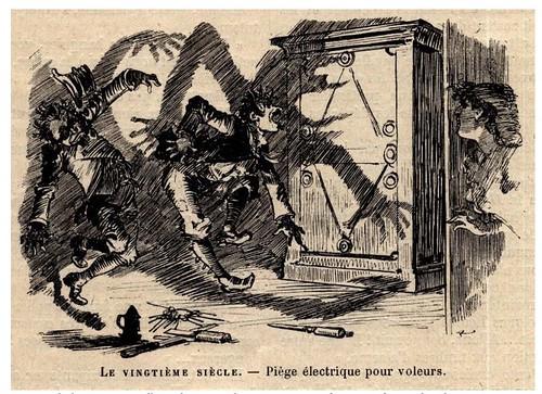 006-Defensa electrica contra ladrones-Le Vingtième Siècle 1883- Albert Robida