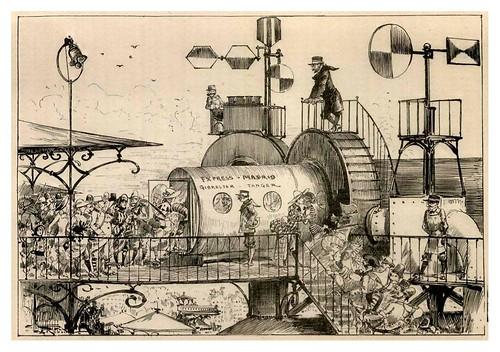 011-Los tubos-estacion del tubo del sur en Paris-Le Vingtième Siècle 1883- Albert Robida