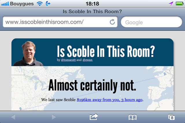 Is scoble in this room?