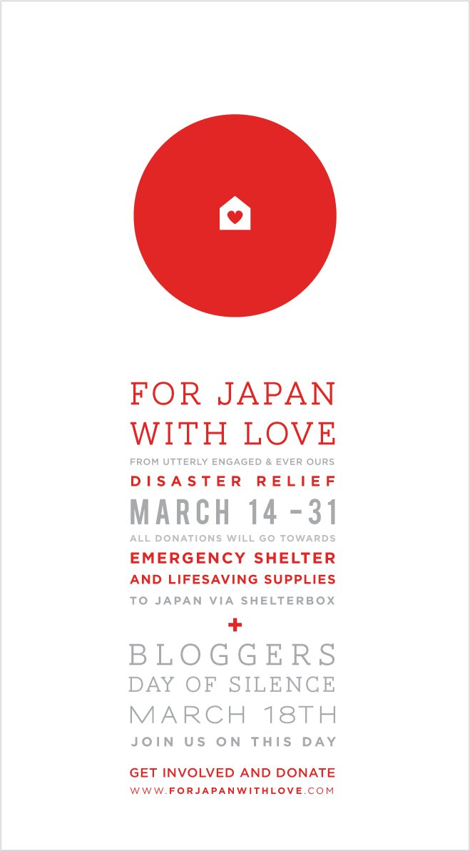 For Japan with Love...be silent on Friday...