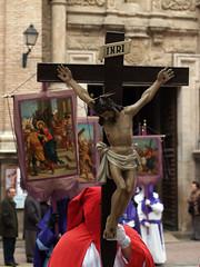 Via Crucis a la Virgen de la Pea.Calatayud 2011. (oscarpuigdevall) Tags: espaa aragon calatayud viacrucis oscarpuigdevall momentoscofrades semanasantadecalatayud semanasantadearagon