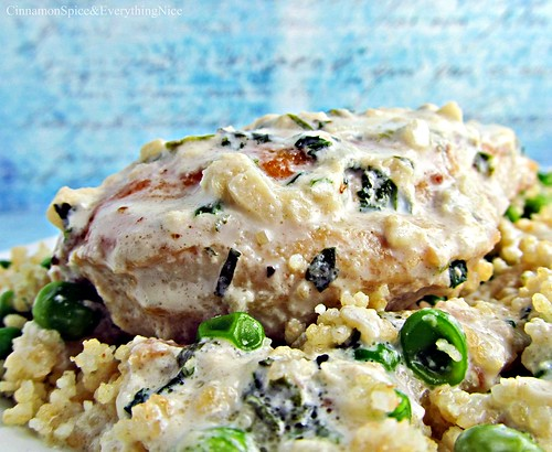 Tarragon Chicken with Sweet Pea Couscous