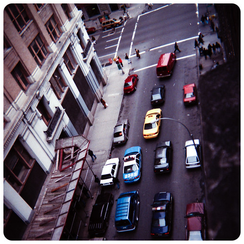 View from McBurney YMCA, 125 West 14th Street, NYC. 1996