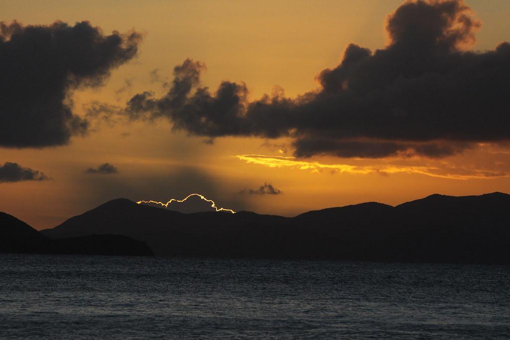 Caribbean Golden Sunset
