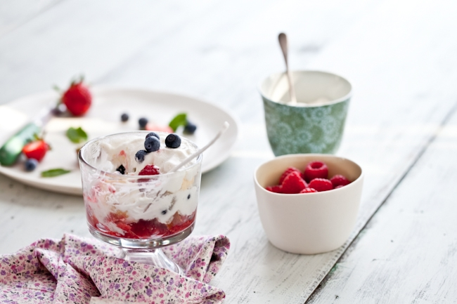 Mixed Berry Trifle & Lending A Helping Hand Recipe — Dishmaps