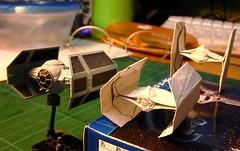 TIE Advanced origami (Matayado-titi) Tags: starwars origami tie spaceship advanced tiefighter sugamata matayado
