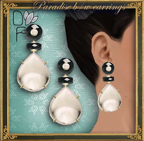PARADISE BW earrings
