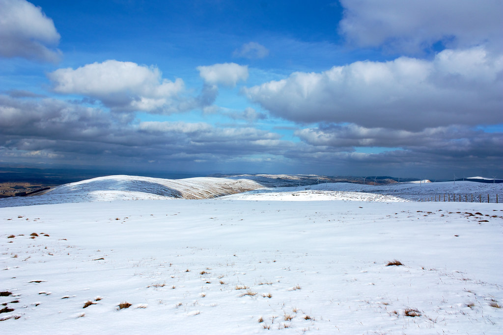 The Ochils from Blairdenon Hill