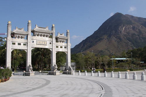 Entrance archway to the Po Lin Monastery