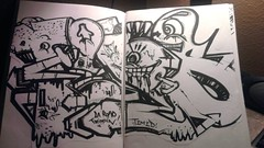 (Pastor Jim Jones) Tags: black graffiti book telos