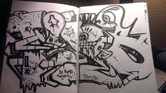 (Pastor Jim Jones) Tags: black graffiti book telos