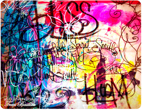 bliss..colorful layers of writing