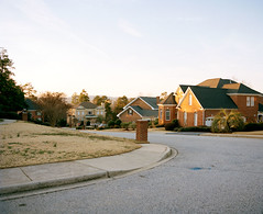 . (Sean Litchfield) Tags: sunset twilight suburbia suburb portra mcmansion rz67 seanlitchfield