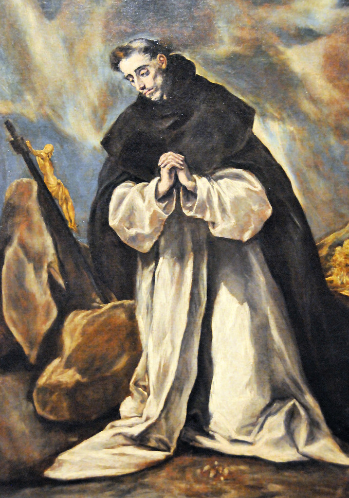 saint dominic in prayer by domenikos theotocopoulos essay The disrobing of christ or el expolio (latin: exspolĭum) is a painting begun in the summer of 1577 and completed in the spring of 1579 for the high altar of the sacristy of the cathedral of toledo, where it still normally hangs.