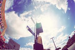 Los Angeles street! DTLA (dj murdok photos) Tags: city urban clouds la losangeles downtown minolta sony sunny fisheye alpha 16mm f28 sundays a850