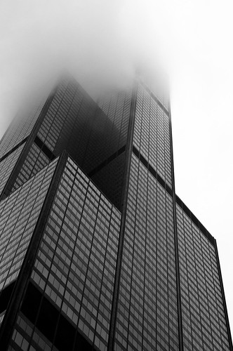 Willis Tower on a Misty Morning