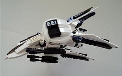 WHITE FALCON (LONEBRICK) Tags: fighter lego space jet mini micro future scifi mecha lazer gunship moc microscale srarfighter