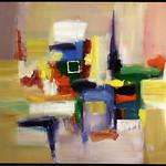 "<b>Composition with Mauve</b><br/> Richard Scherubel (LC '63) (Acrylic)<a href=""http://farm6.static.flickr.com/5055/5571790730_6eca3ee1a3_o.jpg"" title=""High res"">∝</a>"