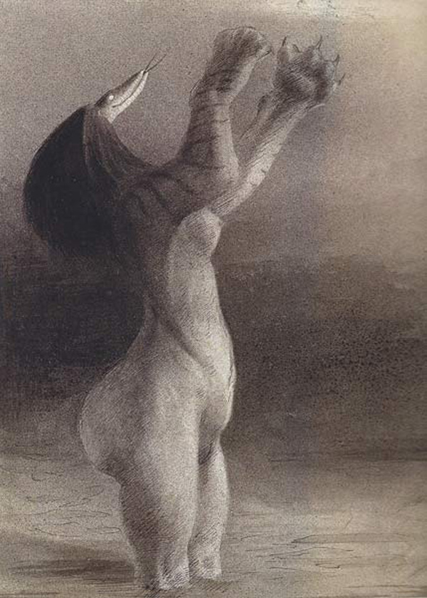 Alfred Kubin - Serpent Nightmare, 1903-04