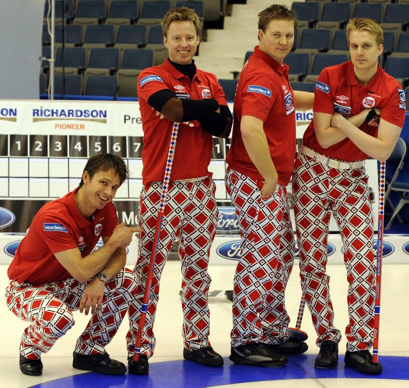 2011 Ford Men's World Curling Team Norway, shows off their new trouser for the 2011 Men's World Curling in Regina Sask. Michael Burns Photography