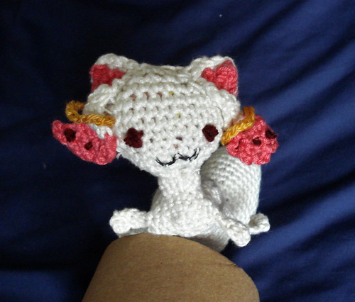 Mahou Shoujo Madoka Magica QB Kyubey stuffed plush toy crochet patter