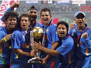 India wins Cricket World Cup